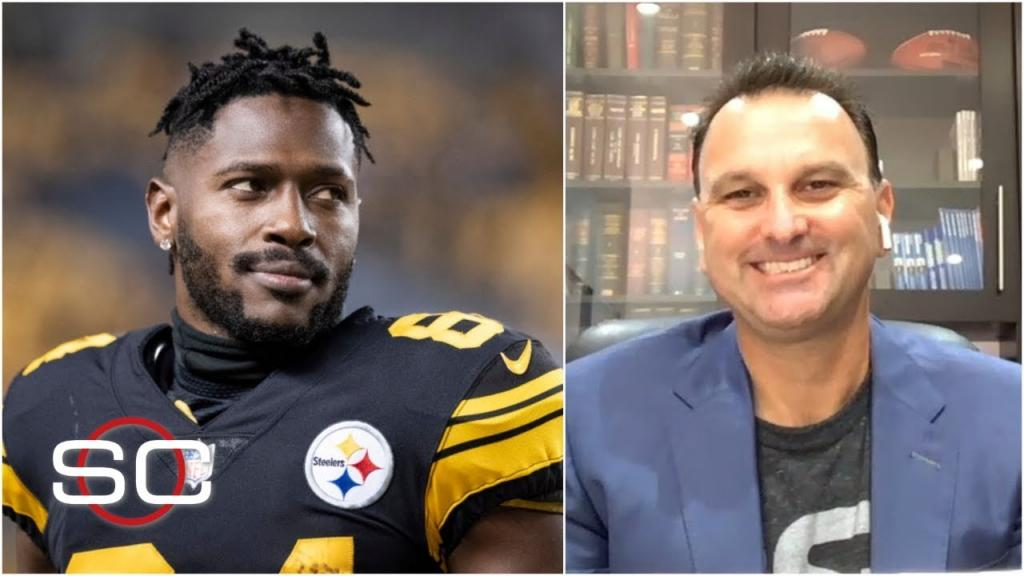 Antonio Brown is a great fit for the Raiders Drew Rosenhaus SportsCenter