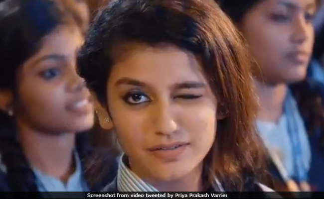 Priya Prakash Varrier Went Viral With A Wink. 'Can't Believe It,' She Tweets