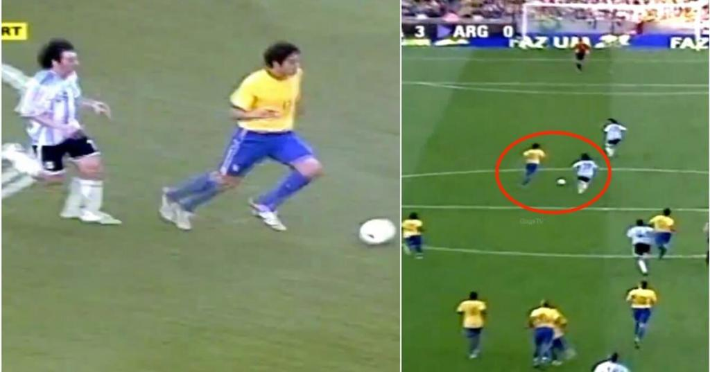 Never forget the day Lionel Messi tried to catch peak Kaka and failed miserably