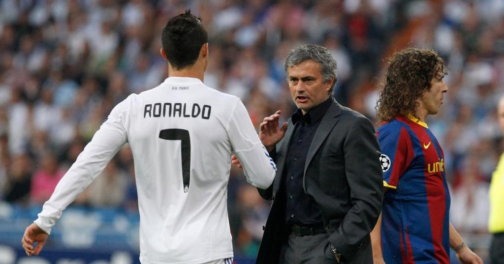 Jose Mourinho could face Cristiano Ronaldo next season after infamous bustup