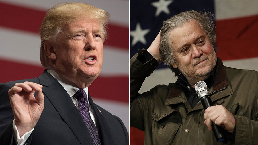 Trump disavows Bannon, says former campaign strategist        lost his mind