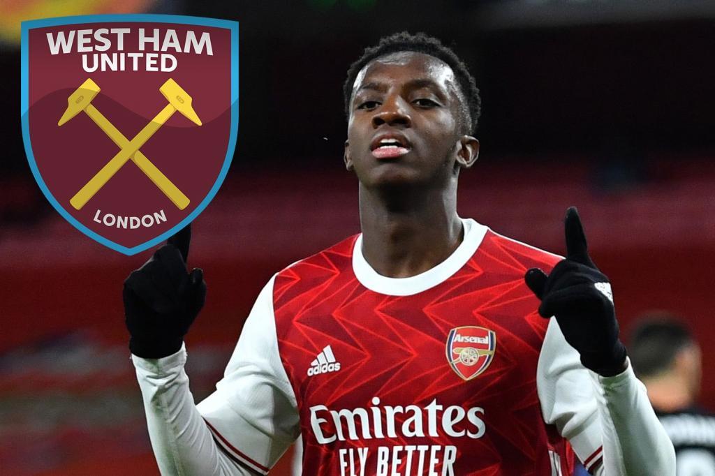 West Ham hope to sign Nketiah after Arsenal striker Balogun's contract U-turn