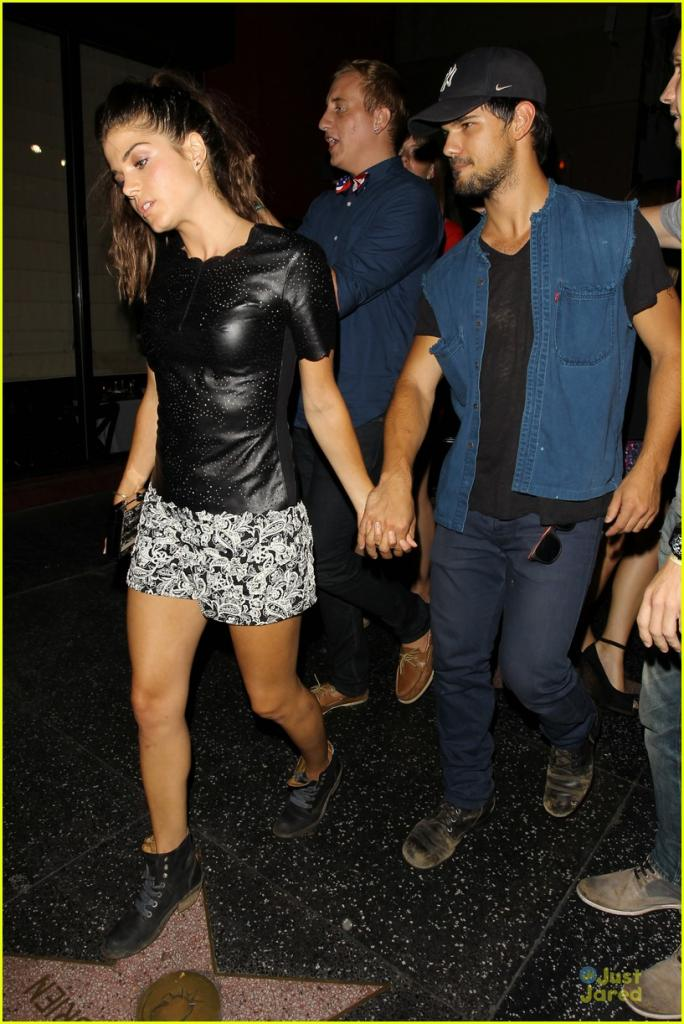 taylor lautner marie avgeropoulos strong hollywood 03