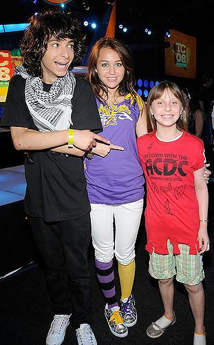 EXCLUSIVE** Dancer Adam G. Sevani and host Miley Cyrus during