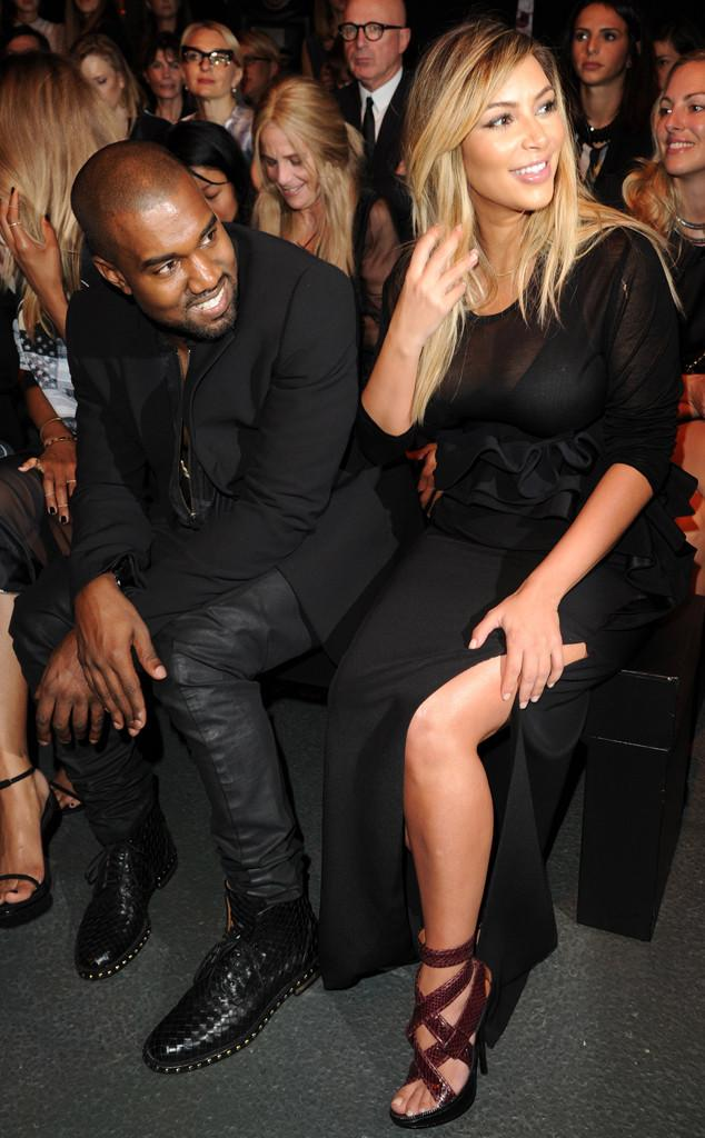 Kim Kardashian and Kanye West Attend Givenchy Paris Fashion Week Show