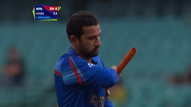 Javed Ahmadi Wicket     SL Vs AFG - Videos - ICC Cricket World Cup 2015