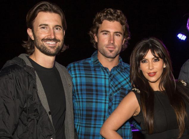 Brandon Jenner, Brody Jenner and Kim Kardashian. Brody claimed Brandon