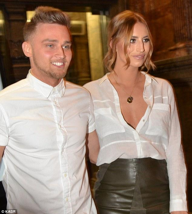 Ferne McCann Looks Sophisticated In White Shirt With A Leather
