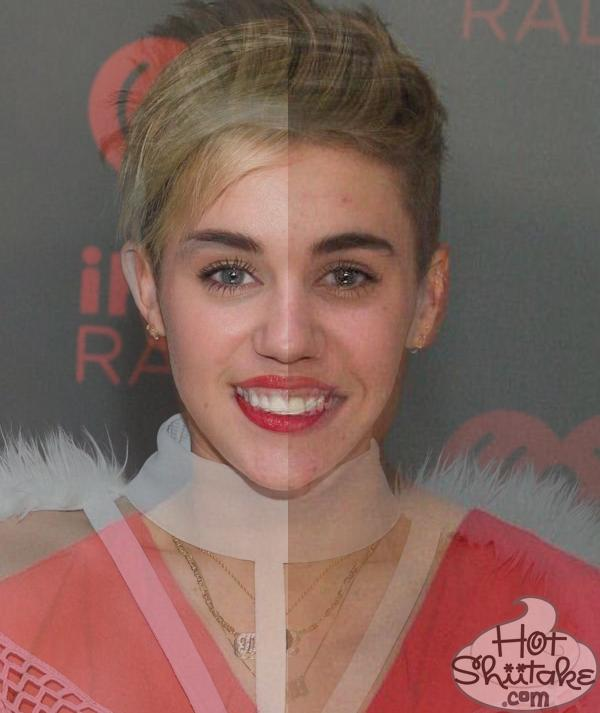 Hot Shiitake Tumblr - Justin Bieber and Miley Cyrus have THE SAME FACE