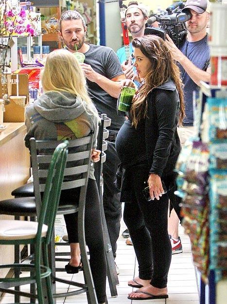 Kim Kardashian with Brandon and Leah Jenner