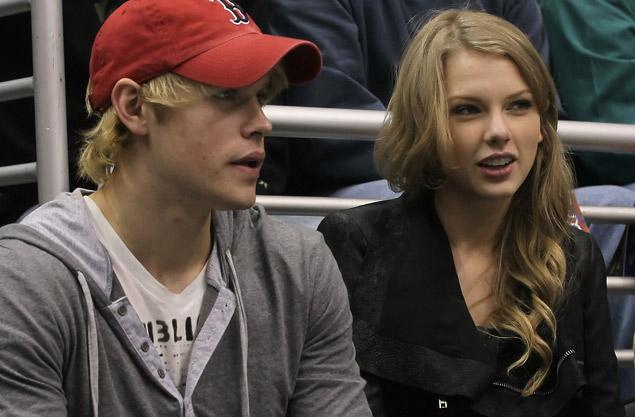 Taylor Swift and Glee star Chord Overstreet were spotted at an L