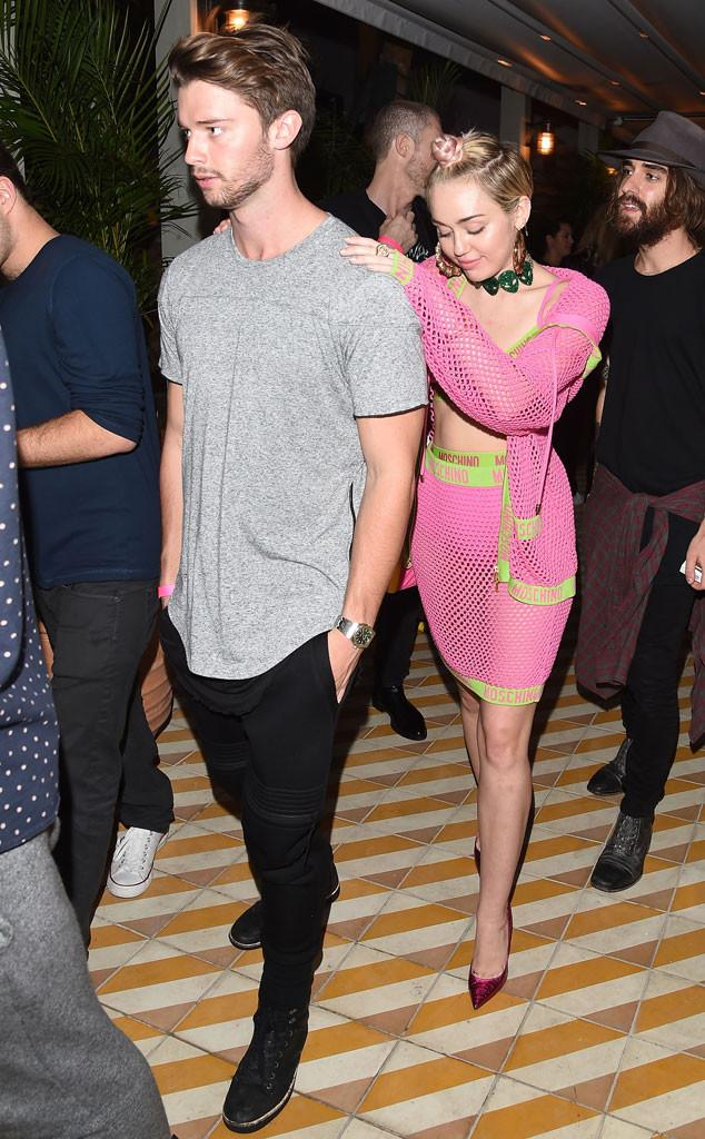 Miley Cyrus and Patrick Schwarzenegger Smoke Together, Hit Up Another