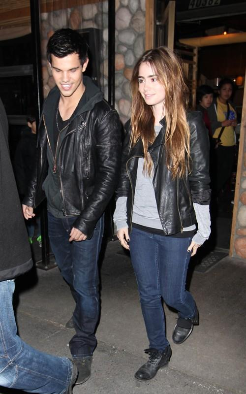 Taylor Lautner and Lily Collins images Taylor and Lily Walk HD