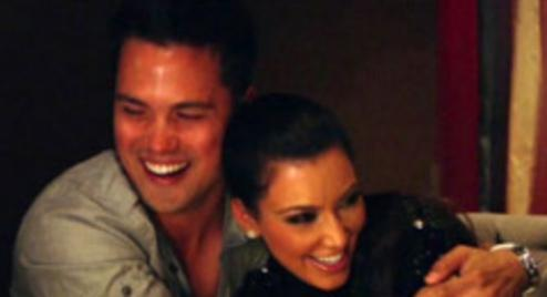 Kim Kardashian Flirts with Michael Copon | Hollywire