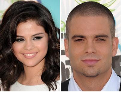 romance blooming between Selena Gomez and Glee bad boy Mark Salling