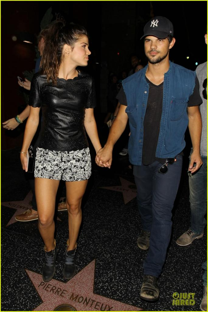 taylor lautner marie avgeropoulos strong hollywood Photos