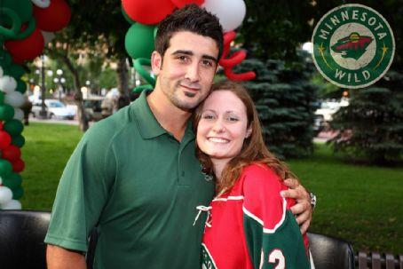 Cal Clutterbuck with his wife Cassie DePalo