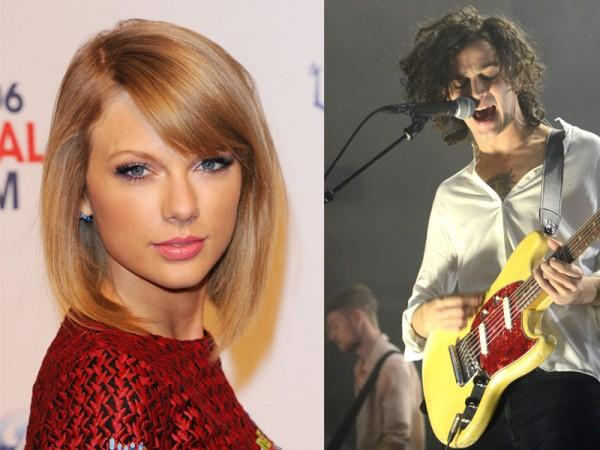 Taylor Swift and Matt Healy. (Photos: Eamonn McCormack/WireImage / C