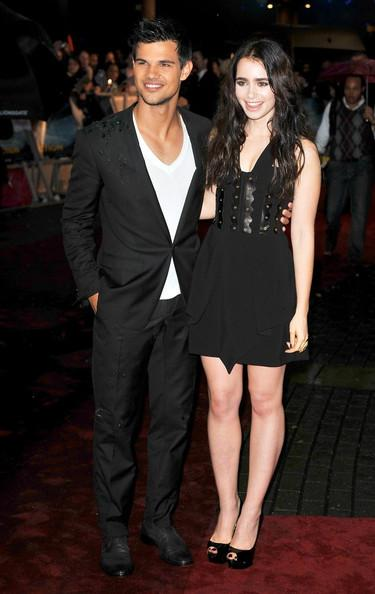 lily collins taylor lautner taylor lautner and lily collins attend the