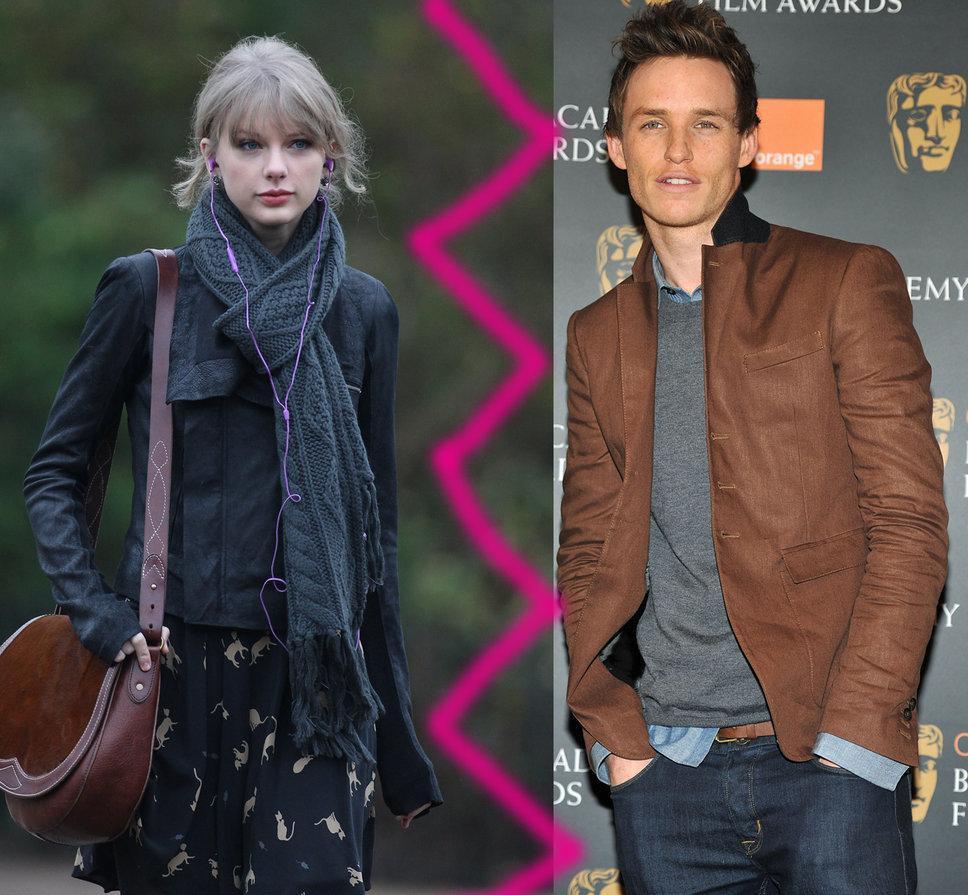taylor swift eddie redmayne break up together grey scarf purple