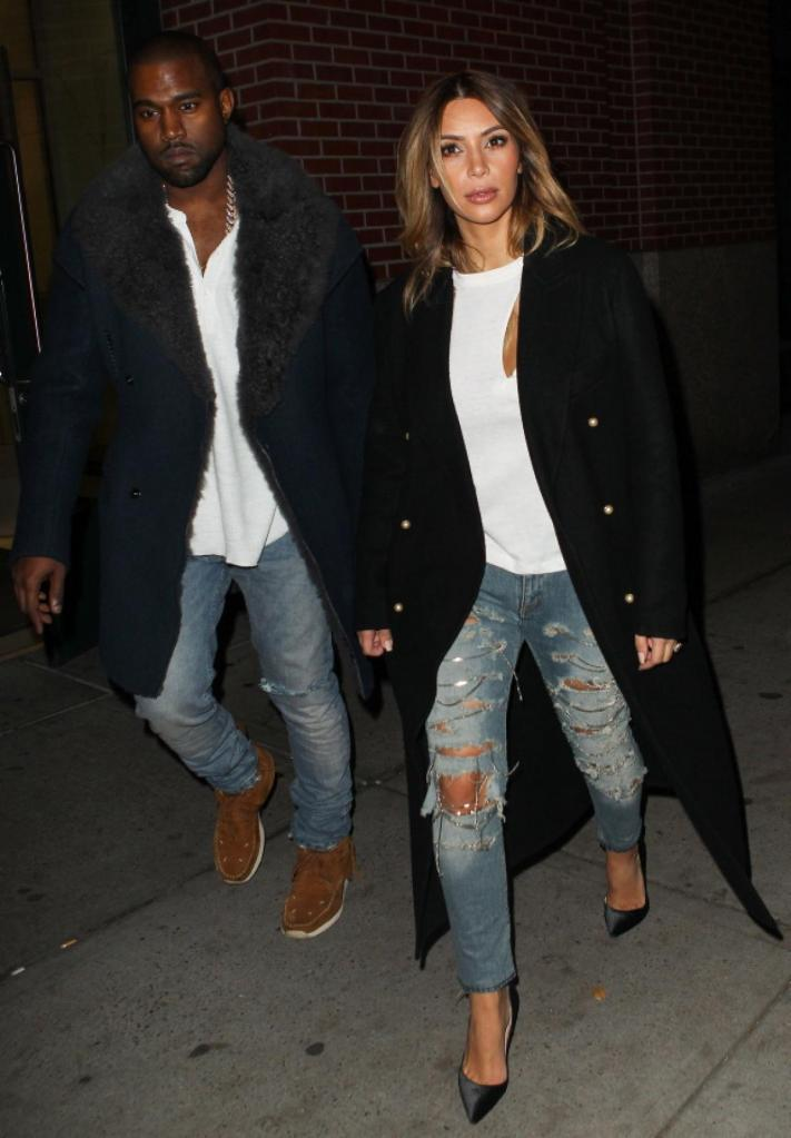 Kanye West and Kim Kardashian in New York City - Photos - Kim