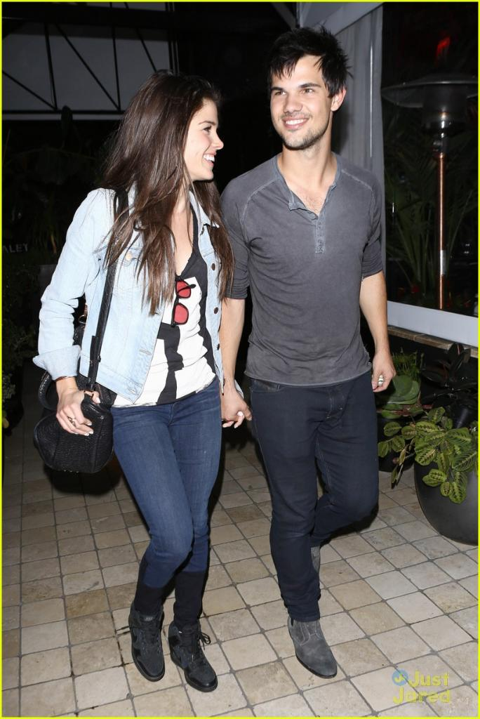 Taylor Lautner & Marie Avgeropoulos Hold Hands & Basically Make the