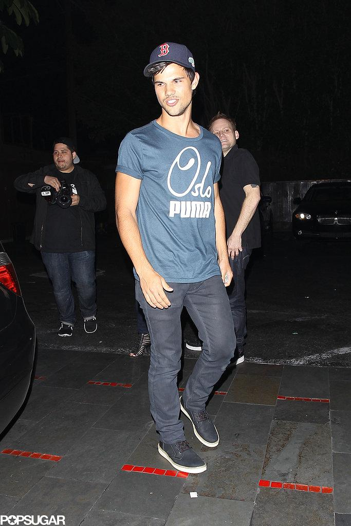 Celeb Diary: Taylor Lautner & Ashley Benson Fogo de Chao in Beverly