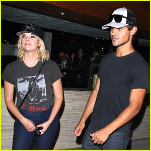Taylor Lautner: Red O Dinner with Ashley Benson Ashley Benson