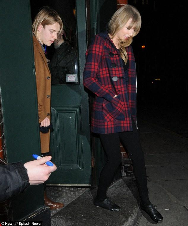 Getting to know you: Taylor Swift and Tom Odell leave a Hackney, East