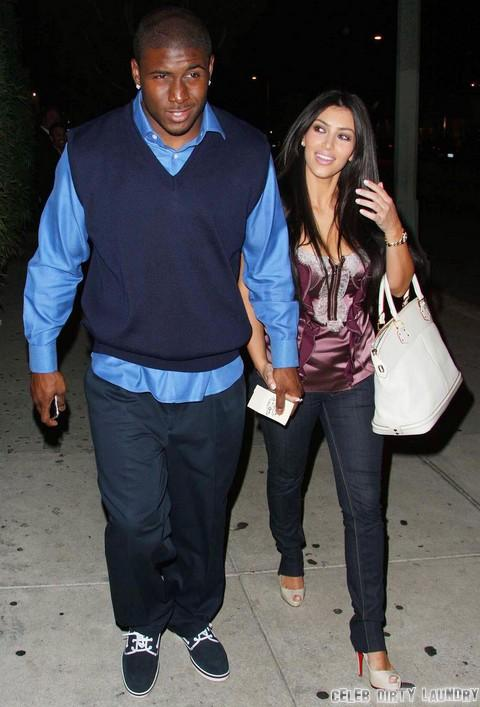 Kim Kardashian and Reggie Bush Share Baby Phone Calls - Kanye West In