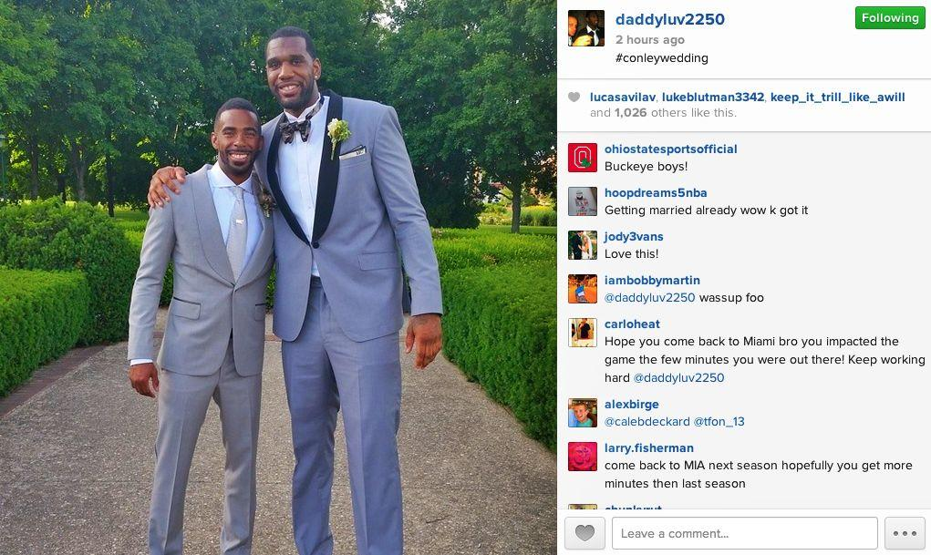 Mike Conley Got Married Yesterday   Eleven Warriors