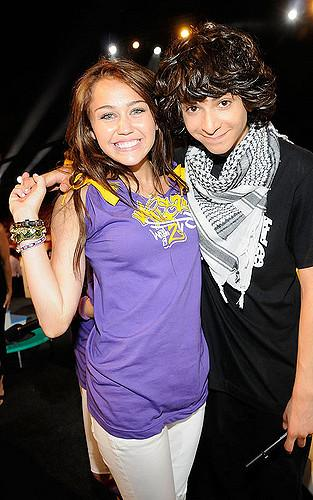 EXCLUSIVE** Host Miley Cyrus and Adam G. Sevani during the 200