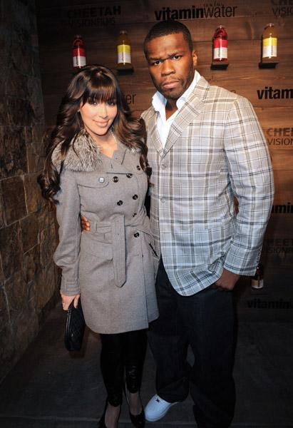 Kim Kardashian and 50 Cent photos