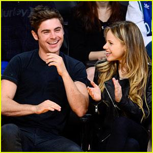 Zac Efron Attends Lakers Game with Halston Sage! | Halston Sage, Zac