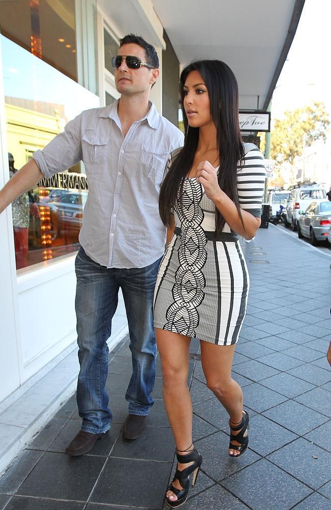 Shengo Deane protecting Kim Kardashian in Sydney, Australia, when Kim