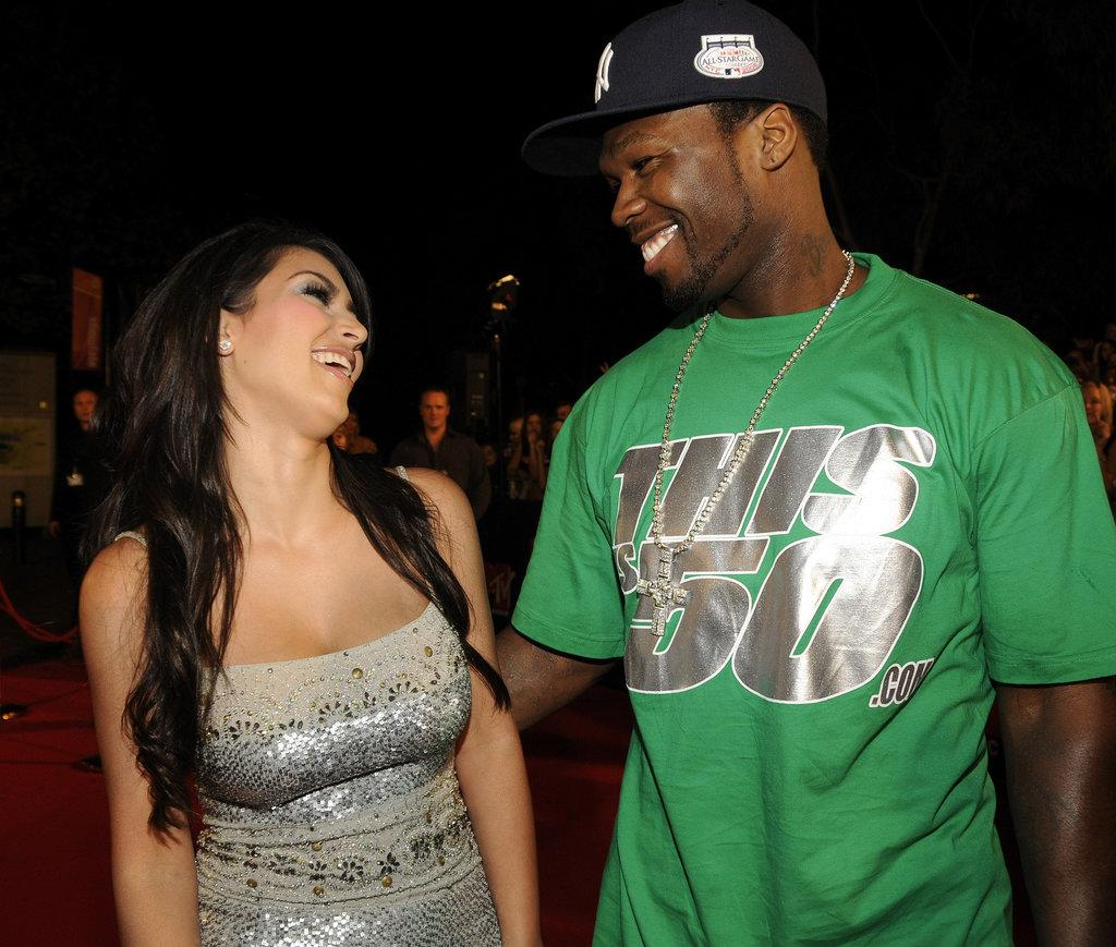 Kim Kardashian shared a laugh with 50 Cent on the MTV Australia Awards