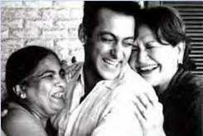 Salman Khan with his mothers