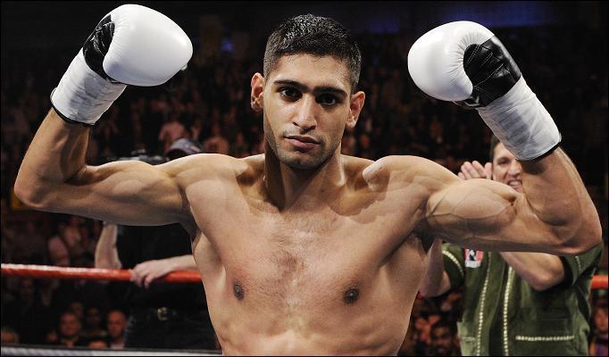 Amir Khan After winning match in ring