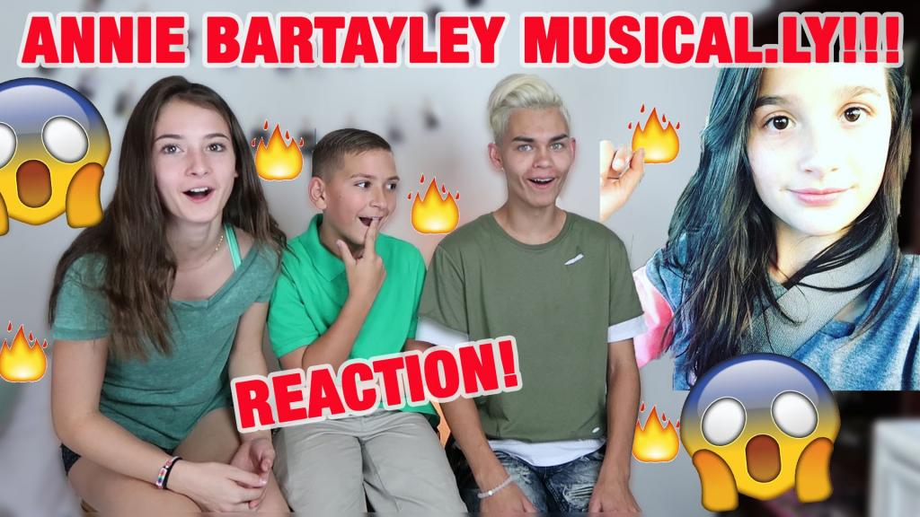 ANNIE BRATAYLEY BEST MUSICAL.LY COMPILATION (REACTION)! - YouTube
