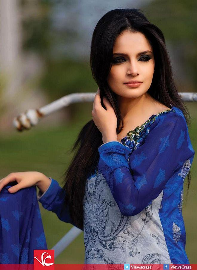 Armeena Rana Khan Designer Lawn Collection 2014 By Gohar Textile