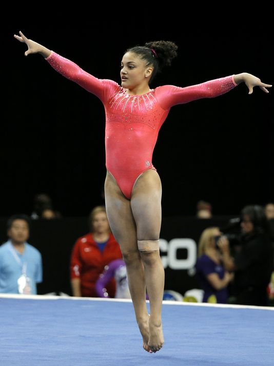 Armour: Laurie Hernandez Keeps Pace With Vets At U.S. Gymnastics