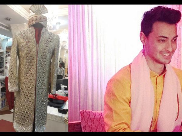 Arpita Khan Wedding: Swarovsky Studded Sherwani For Ayush Sharma