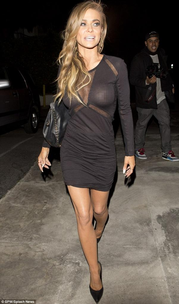 Carmen Electra Reveals Too Much As LBD Turns Sheer During