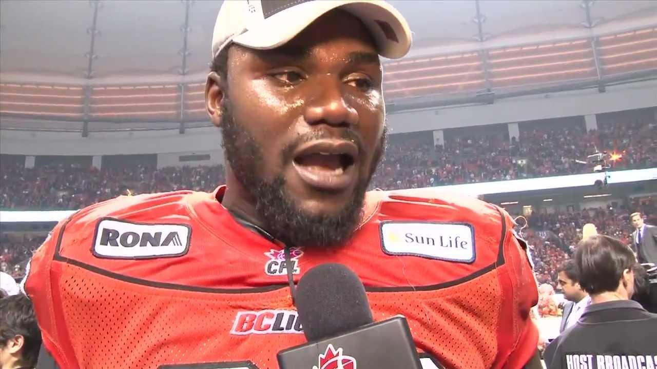 CFL 99th Grey Cup: Emotional Post-Game Interview With Khalif
