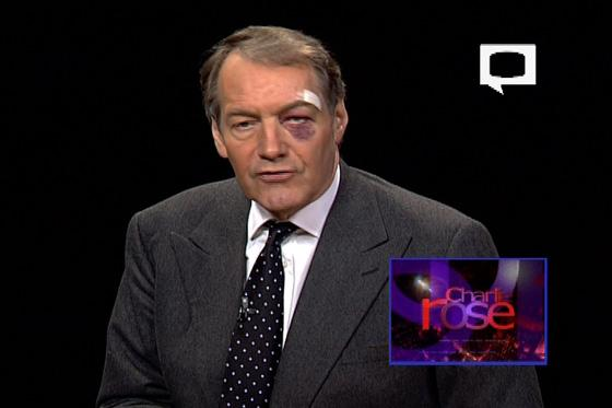 Charlie Rose Face Plants To Save His MacBook Air   TechCrunch