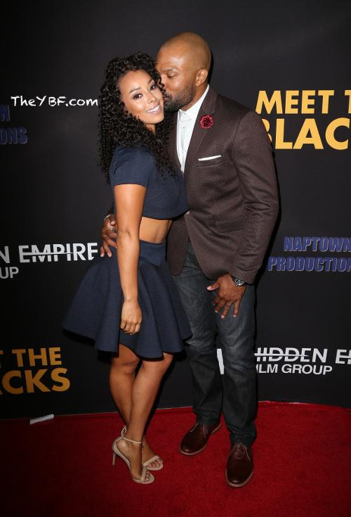 Derek Fisher & Gloria Govan Steam Up The Red Carpet With Kisses