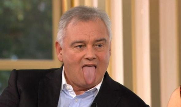 Eamonn Holmes Freaks Out Rylan Clark With His Haka Tongue Wagging