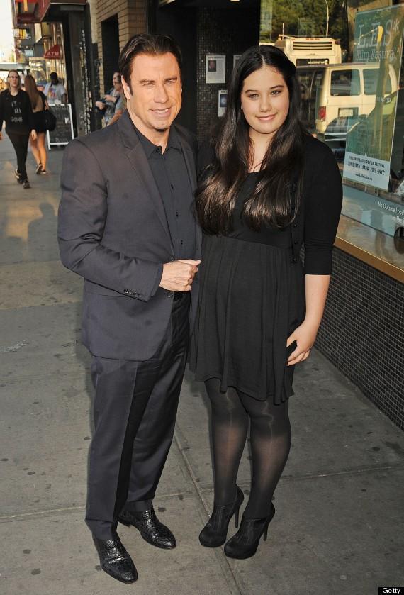Ella Bleu Travolta, John's Daughter, Joins Him At Movie Premiere