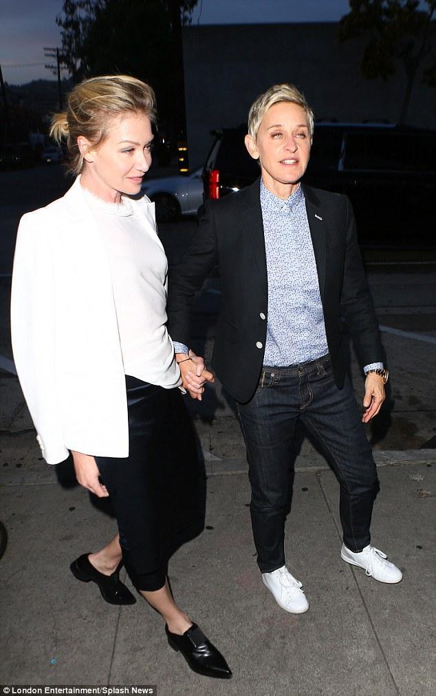 Ellen DeGeneres And Portia De Rossi Co-ordinate In Hers And Hers