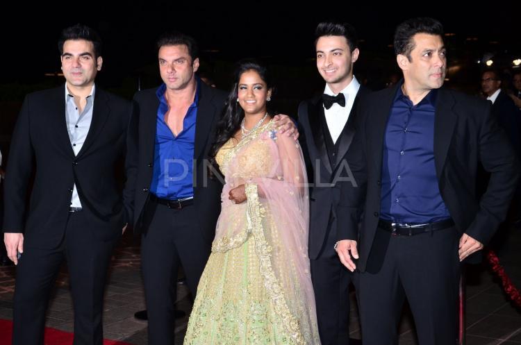 First Look: Arpita Khan And Aayush Sharma At Their Reception